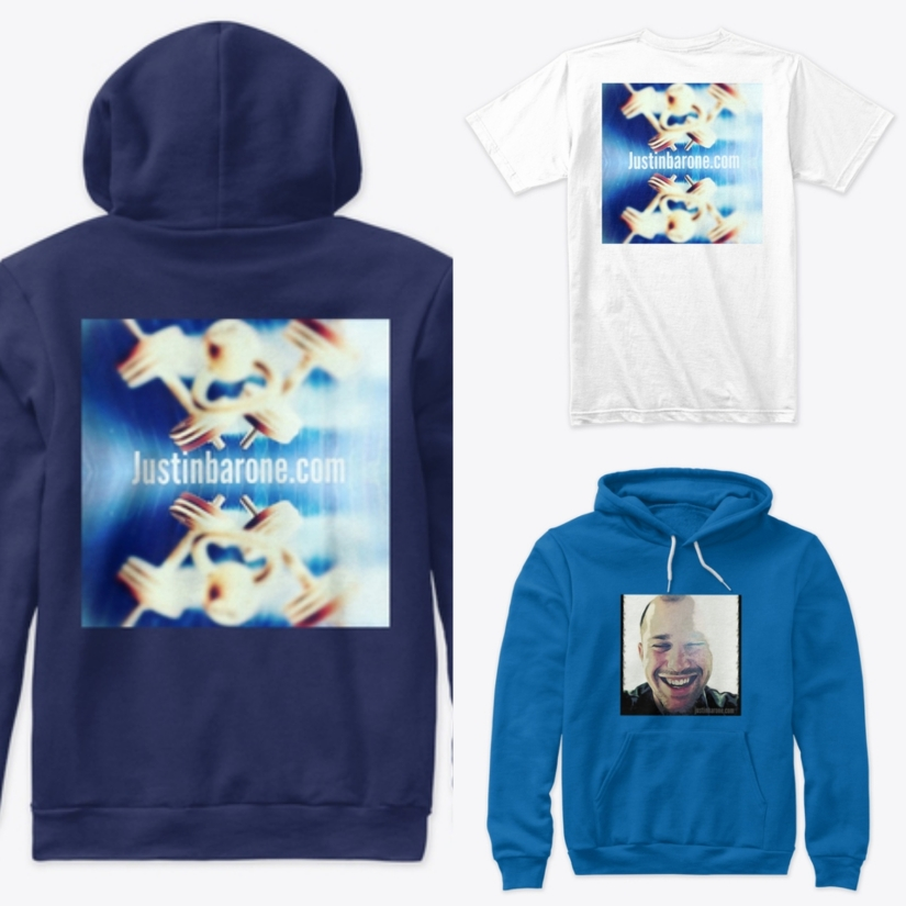 blue, white, graphic, T shirt, Hoodie
