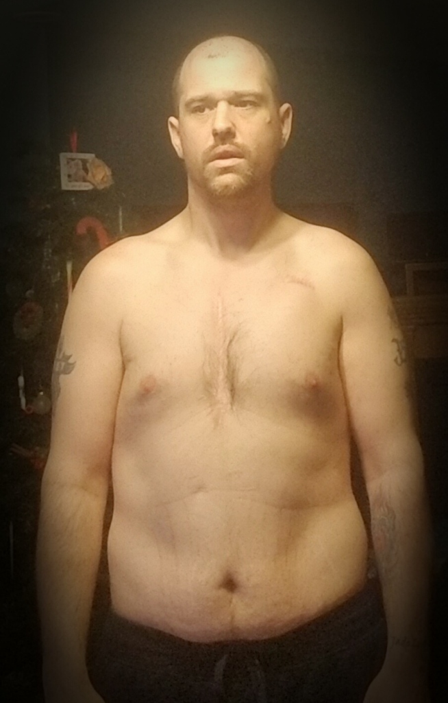 Weight loss before picture of man.
