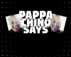 Pappa Chino Says banner image for blog article. Black red and white coloring